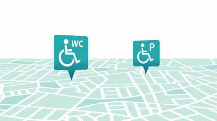 Finding accessible toilets and parking
