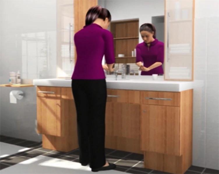 Women - using standard catheter