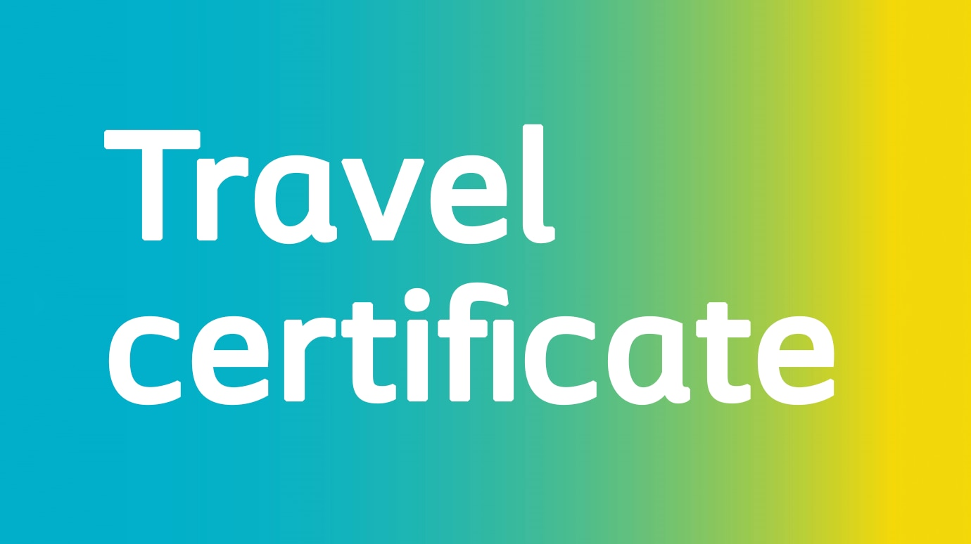 Get a travel certificate