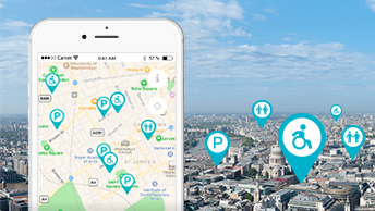 Find nearby toilets - wherever you are