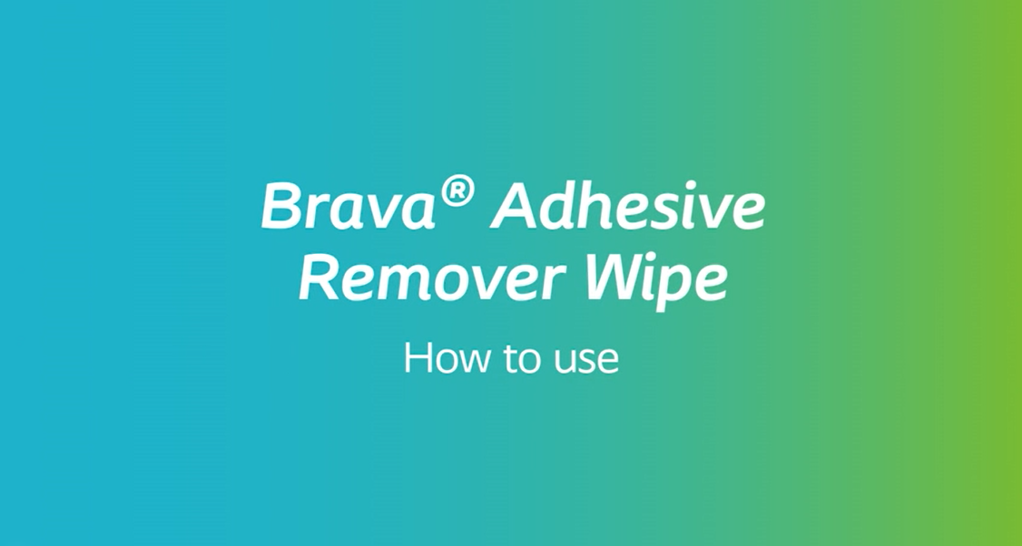 How to use Brava® Adhesive Remover Wipe