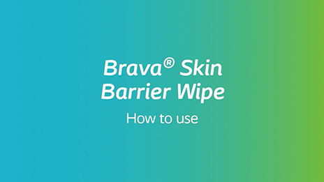 How to use Brava® Skin Barrier Wipe
