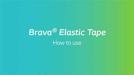 Video about how to use Brava Elastic Tape